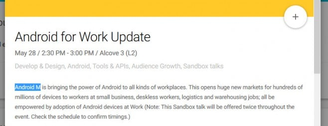android for work m