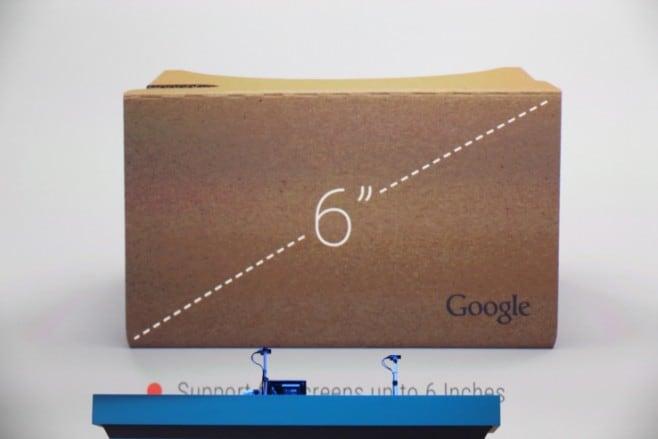 google cardboard 6 pollici
