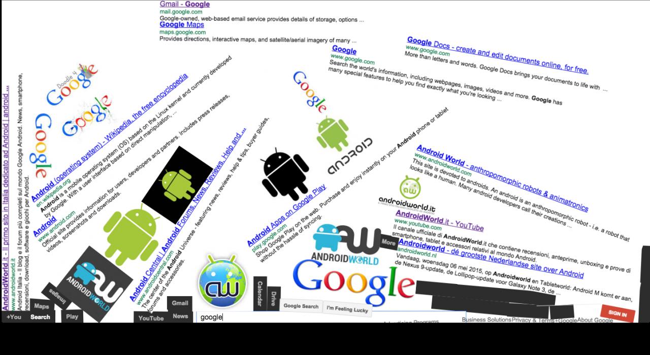google gravity fail