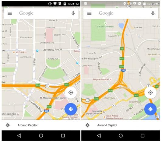 google maps 9.9 prima dopo