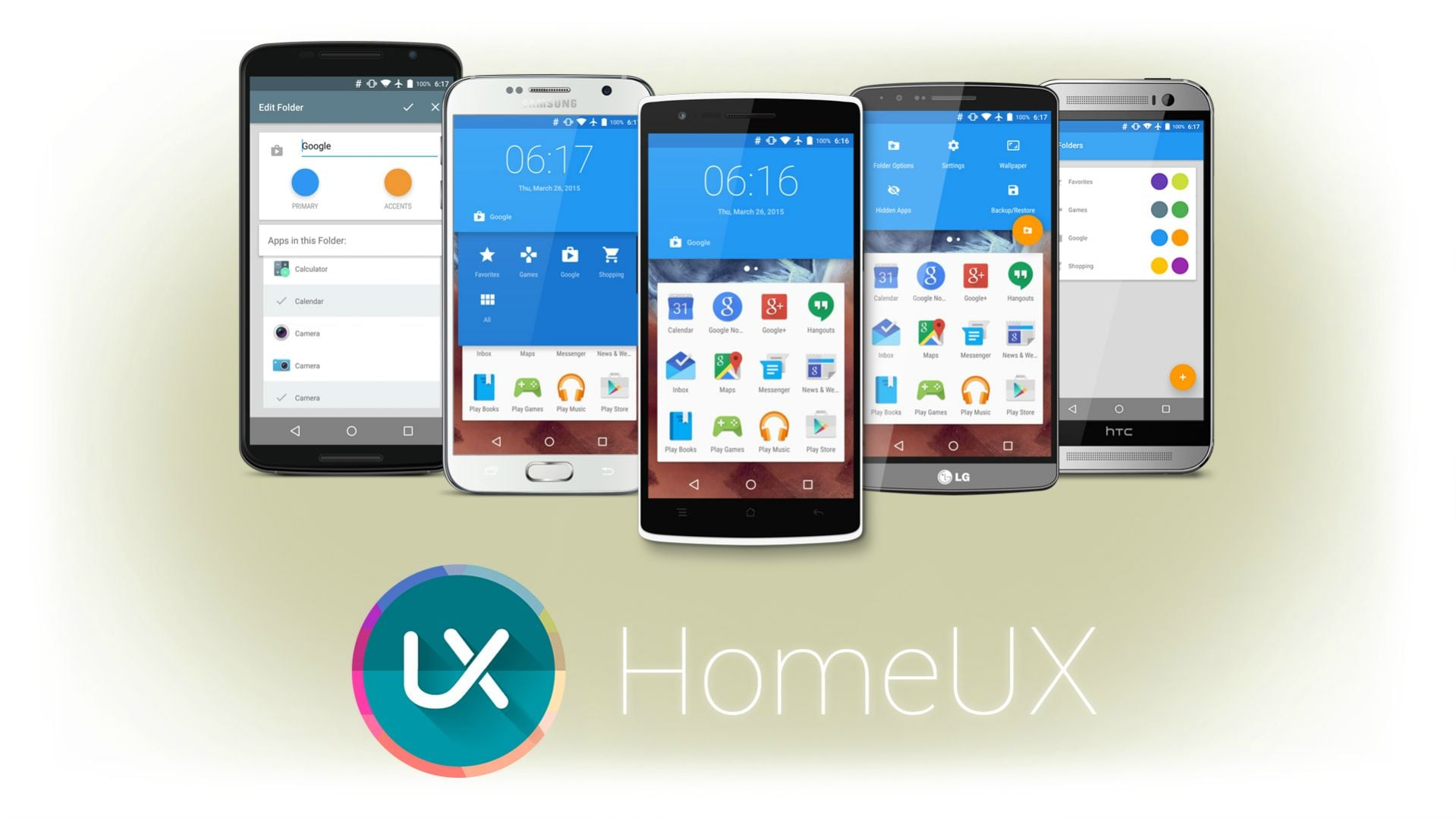 Il material design arriva in home con il launcher homeux for Wallpaper home launcher