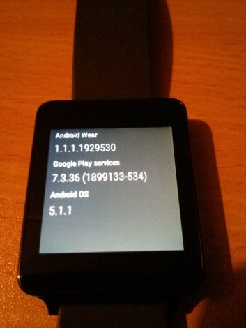 lg g watch 5.1.1