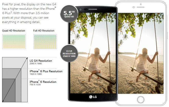 lg g4 iphone 6 plus
