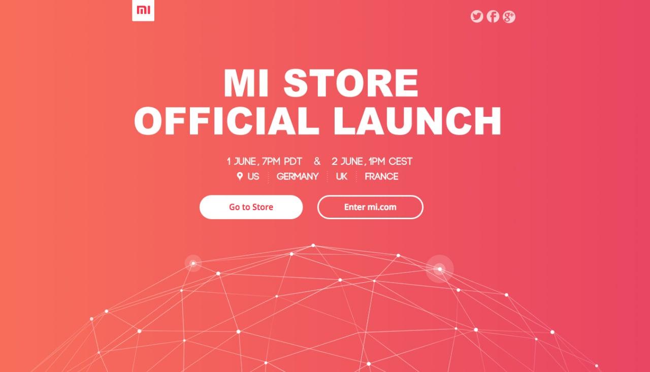 Mi Store sarà ufficialmente lanciato il 1 giugno