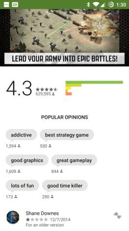 opinioni popolari play store 5.5