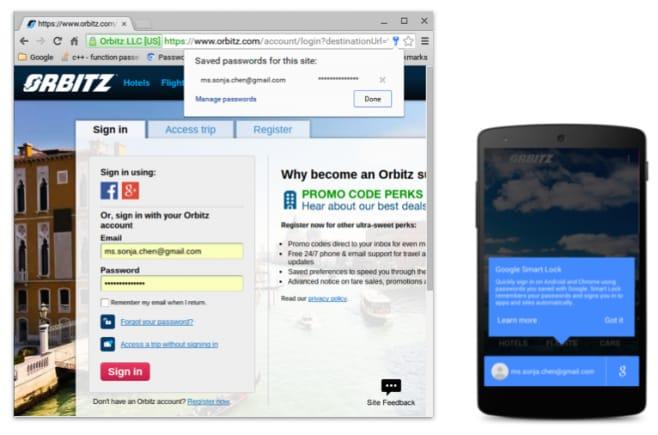 smartlock for password