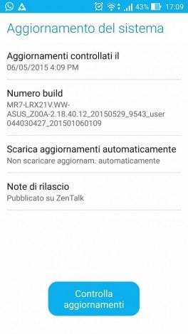Aggiornamento ASUS Zenfone 2 ZE551ML