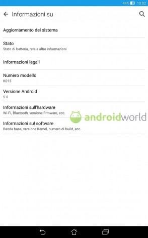 Android lollipop asus memo pad
