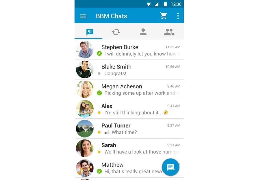 BlackBerry Messenger beta per Android diventa in Material Design