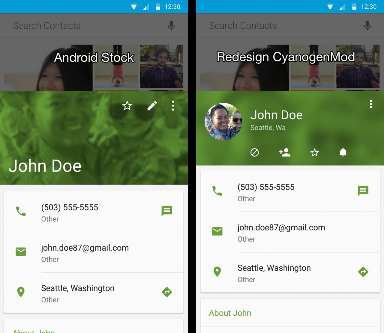 CyanogenMod prepara una nuova scheda per i contatti rapidi