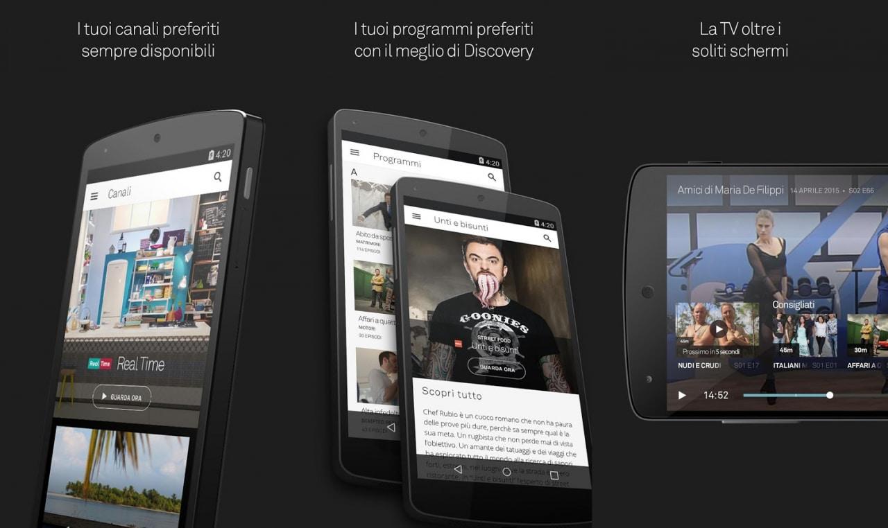 Real Time, Dmax, Focus e Giallo arrivano gratuitamente sul vostro smartphone con Dplay (foto)