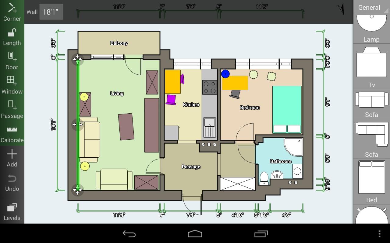 Come progettare la propria casa con lo smartphone floor plan creator foto e video androidworld - Progettare la propria casa ...