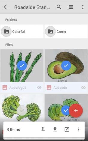 Google Drive - selezione multipla