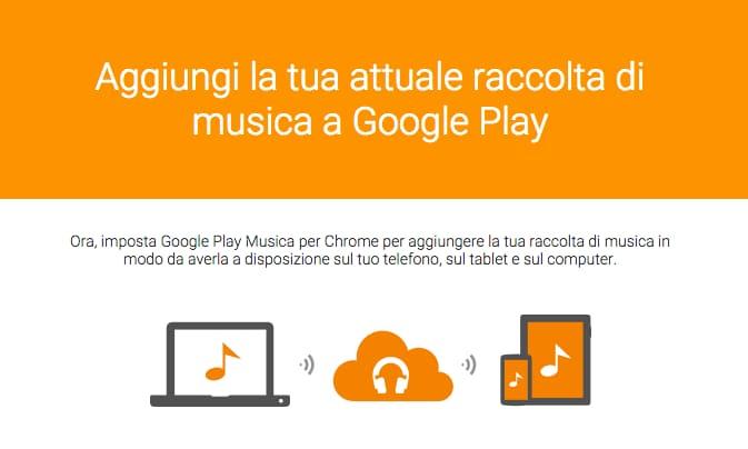 Google Play Musica sincronizzazione
