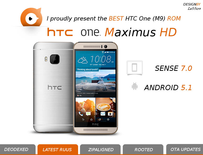 HTC One M9 sense 7 e android 5.1 ROM