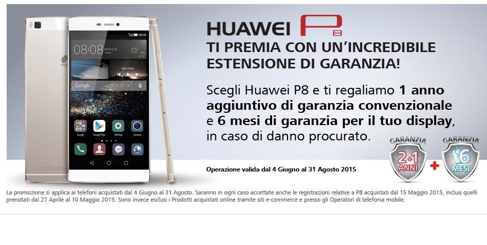 Huawei P8 estensione garanzia