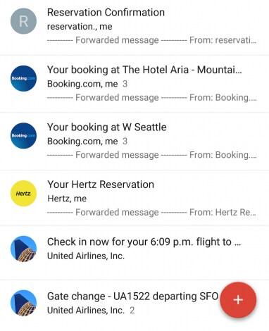 Raggruppamento viaggi inbox 1