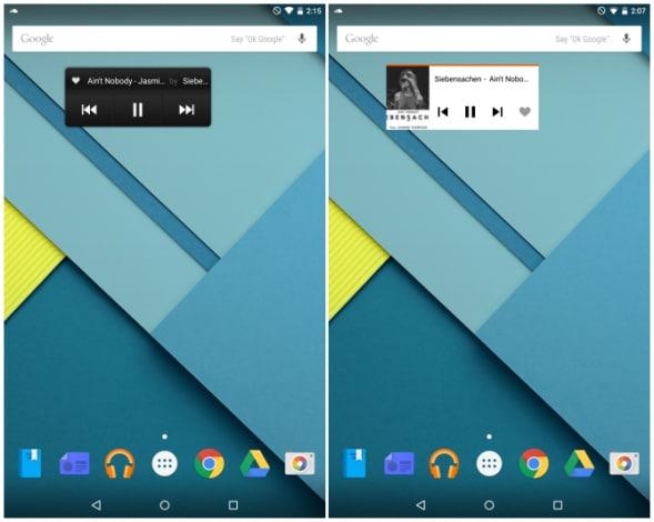 SoundCloud - Material Design - Widget