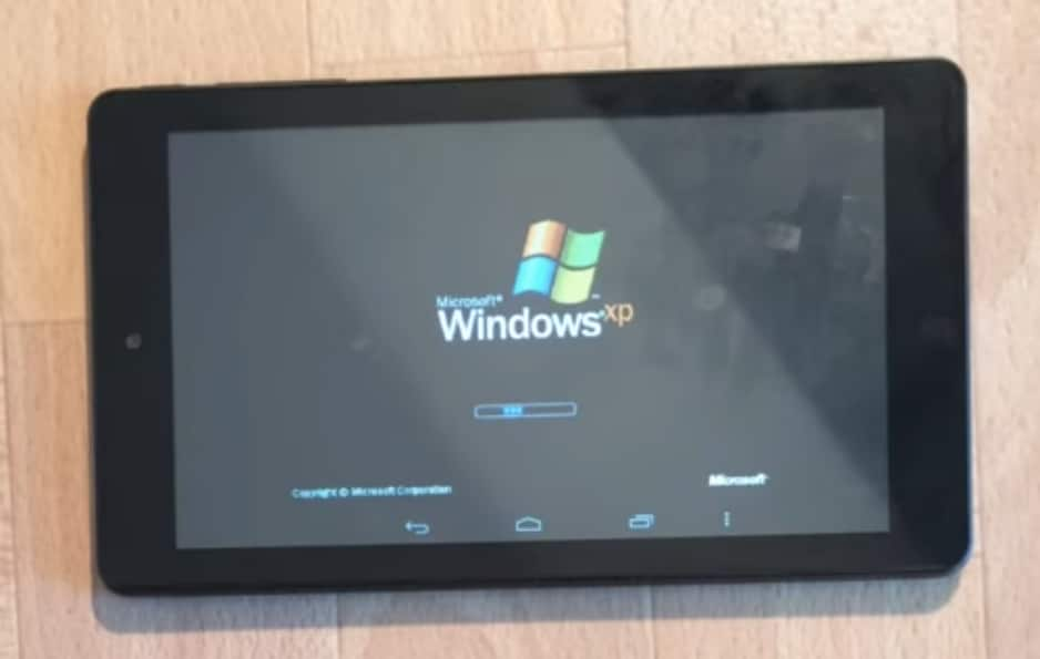 Windows XP - Tablet Android