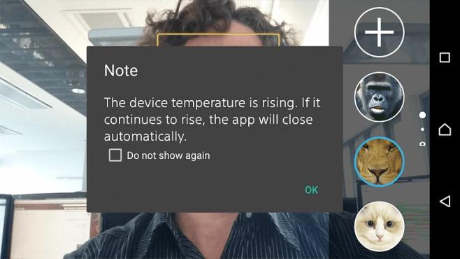 Sony Xperia Z3+ popup surriscaldamento