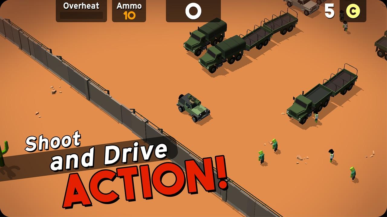 The Hit Car: spara e investi zombie solo su Android e senza acquisti in-app