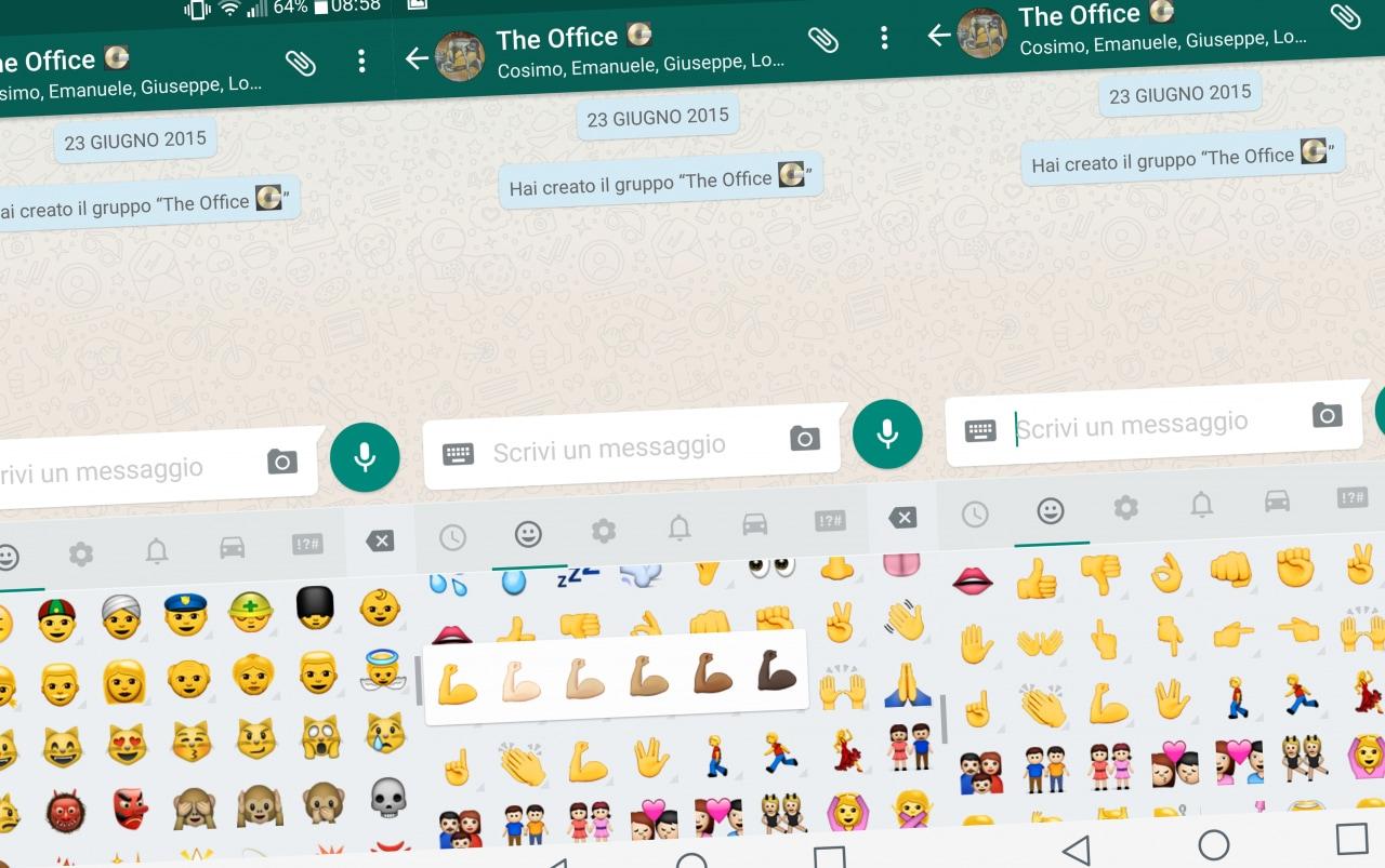 WhatsApp emoji multi-etniche