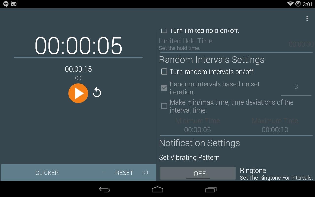 Un comodo timer con intervalli personalizzabili: Behavioral Timer (foto)