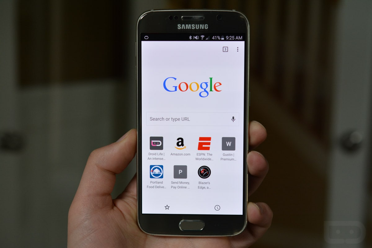 how to change homepage in chrome on android