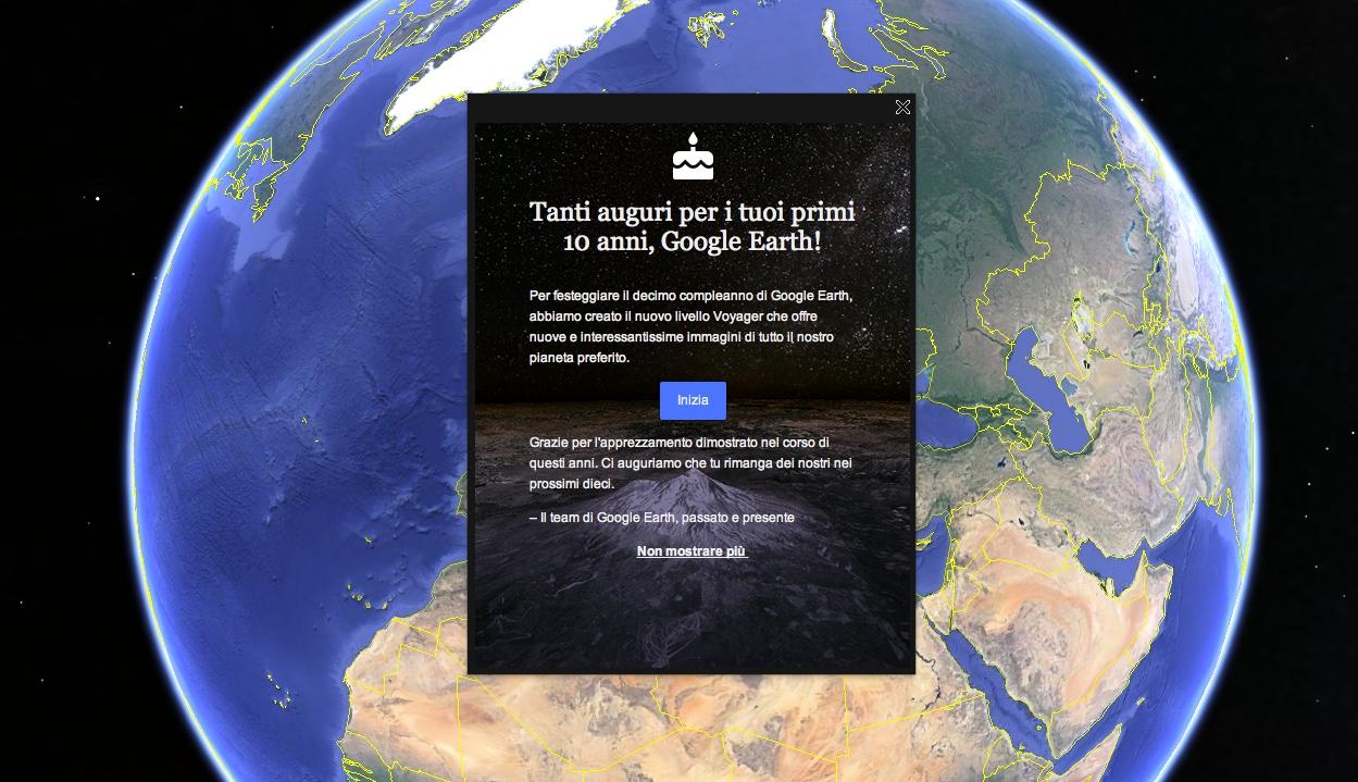 Google Earth compie dieci anni e celebra con due novità!