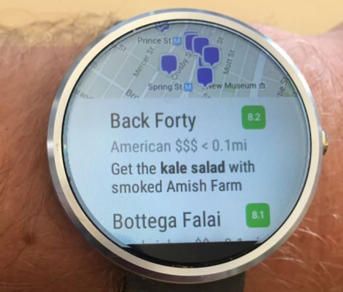 Foursquare è disponibile anche per Android Wear