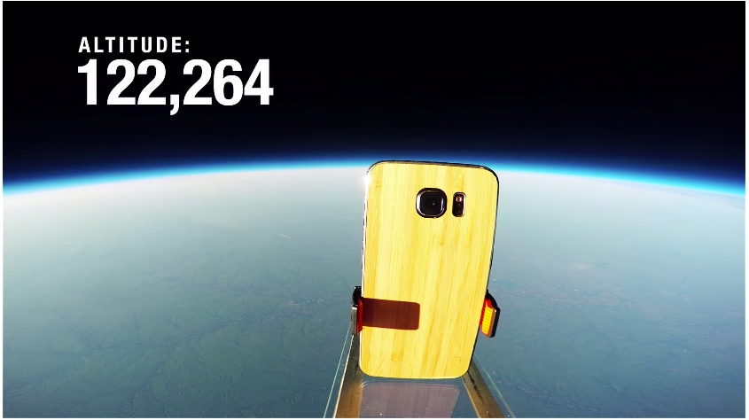 Galaxy S6 to the edge of space (video)