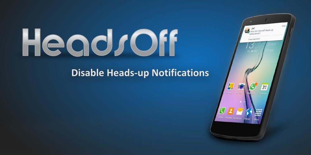 Come disabilitare le notifiche HeadsUp: HeadsOff (foto e video)