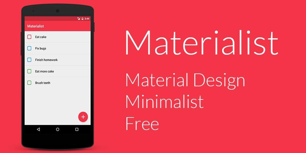 Una app Material per le check-list: Materialist (foto)