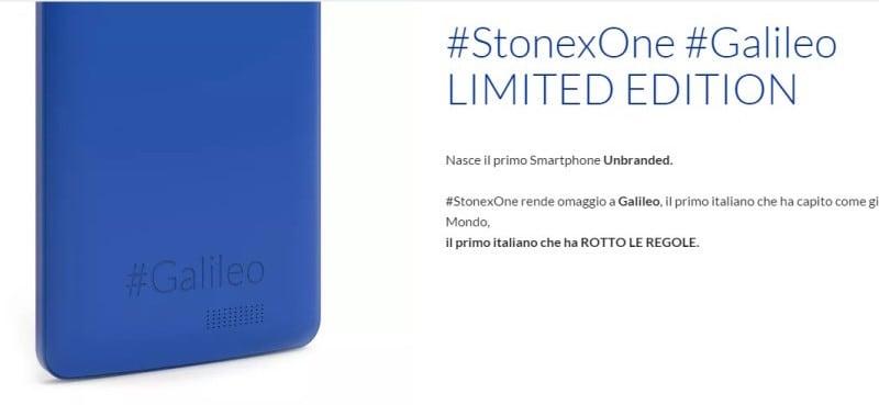 Stonex One nella versione definitiva in foto. Arriverà prima delle vacanze