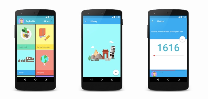 Topeka l 39 app creata da google per mostrare il material for App per design