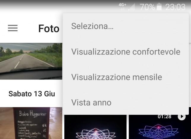 visualizzazione mensile google foto