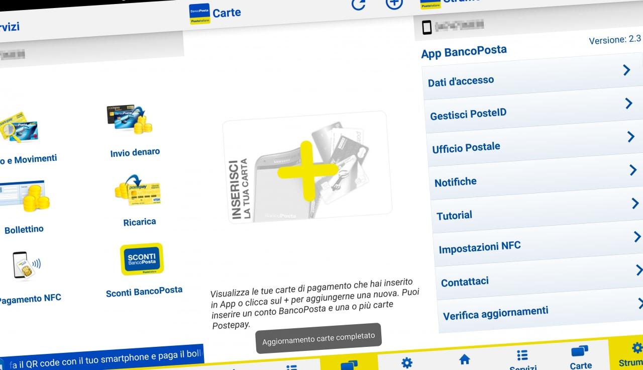 BancoPosta screenshot