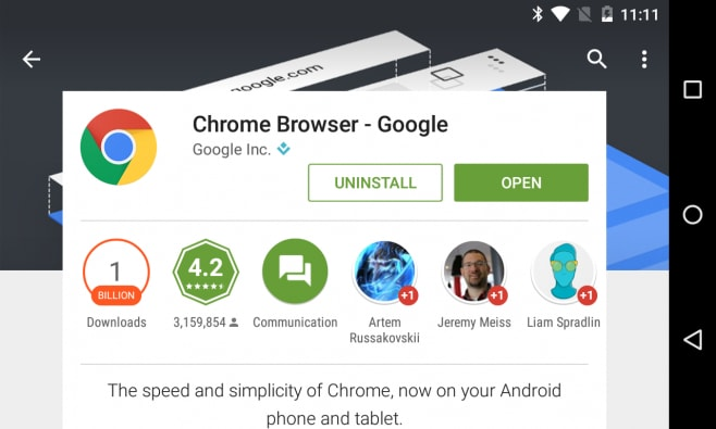 Chrome Android miliardo download