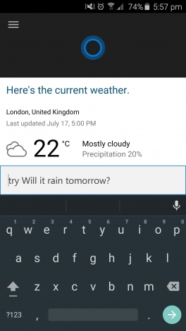 Cortana per Android - 1