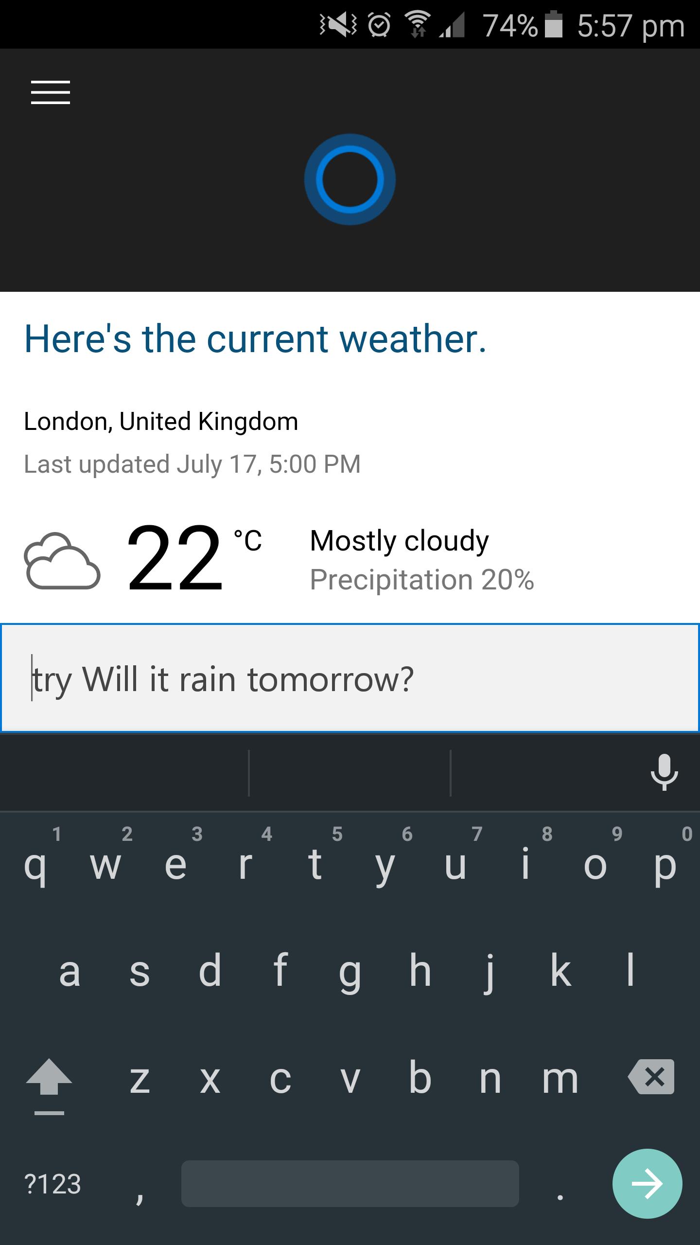 Cortana per Android – 1