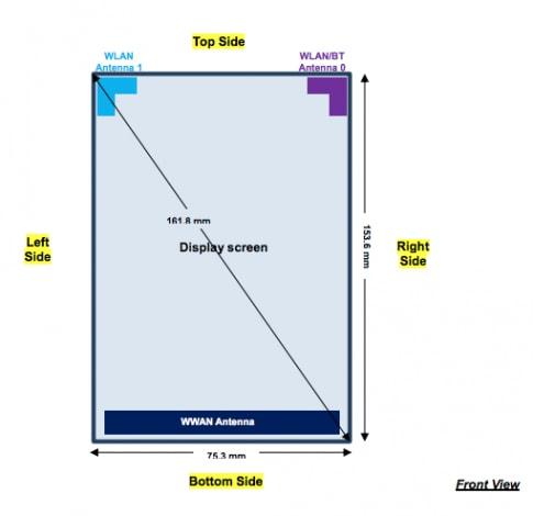 FCC Motorola dimensioni