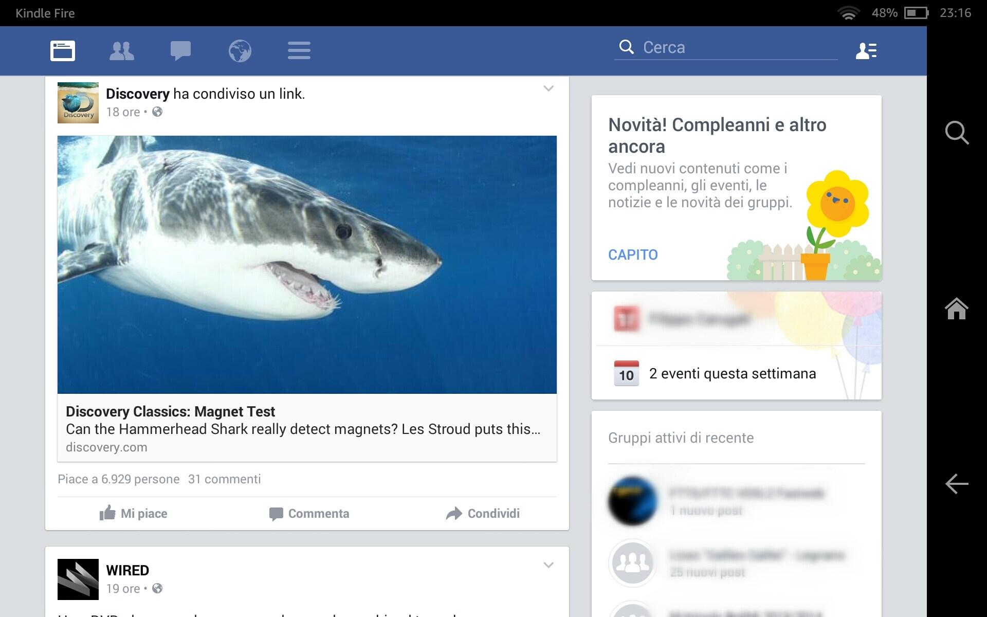 Facebook per tablet kindle fire – 2