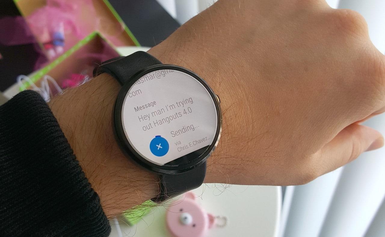 Nuove conferme per Hangouts 4.0 su Android Wear, ma quando arriverà? (foto)