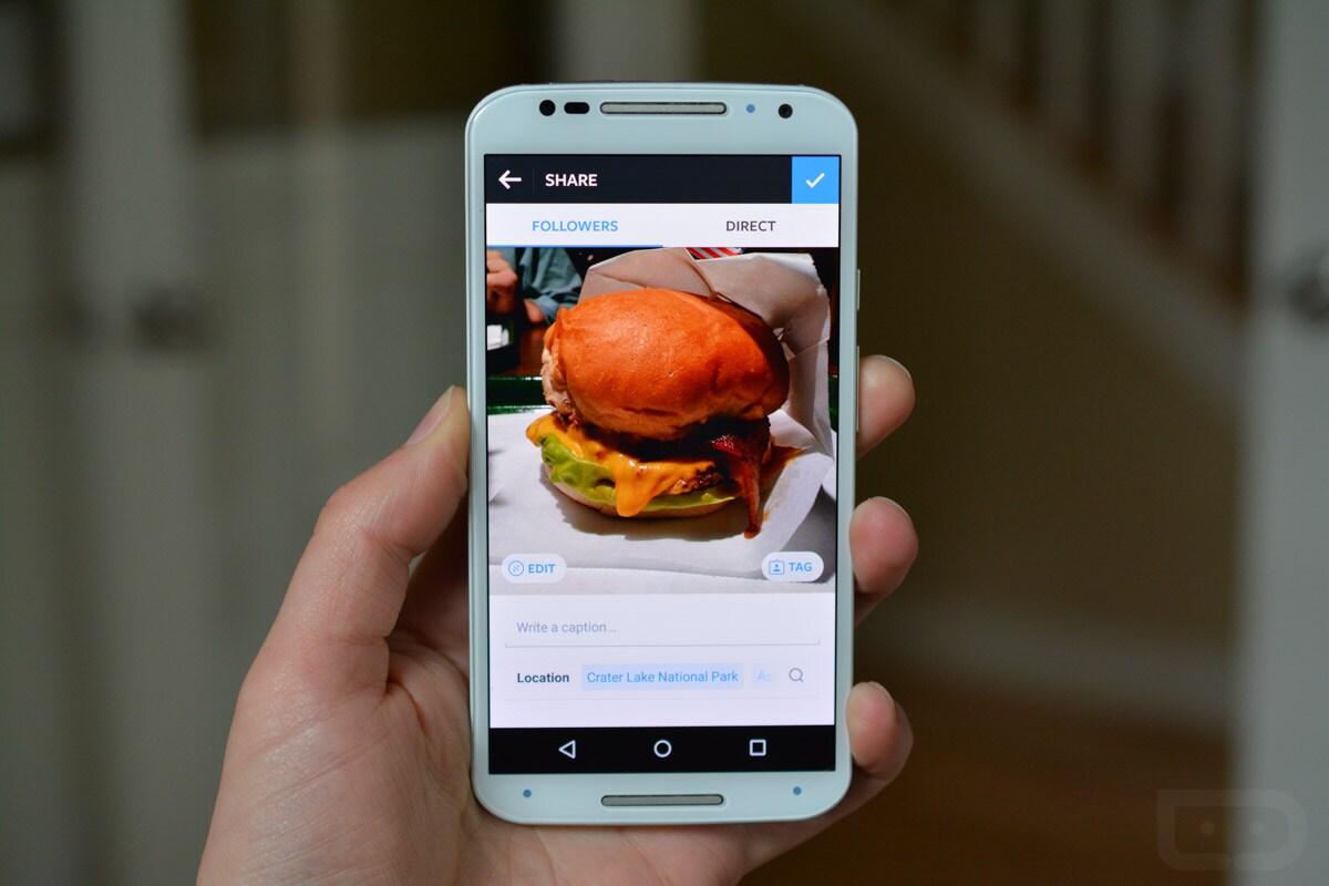 Instagram - schermata di modifica