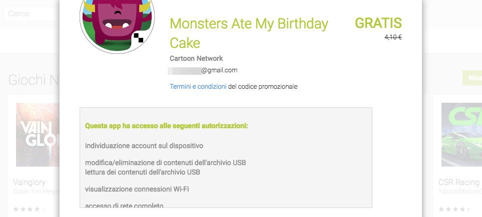 Monster ate my birthday cake gratis