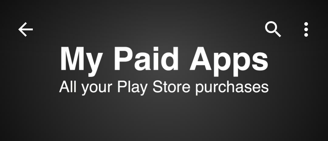 My Paid Apps head