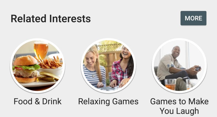 Play Store - Related Interests
