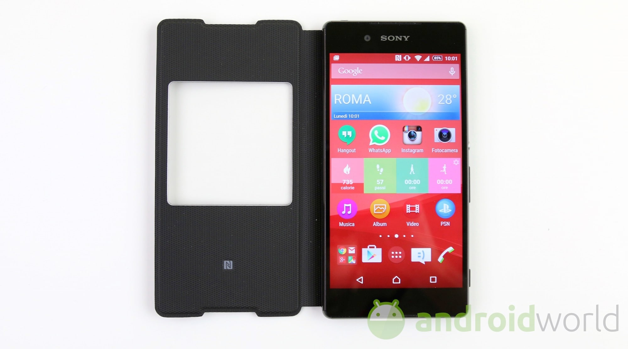 Cover con finestra scr30 per sony xperia z3 foto e video - Cover con finestra ...