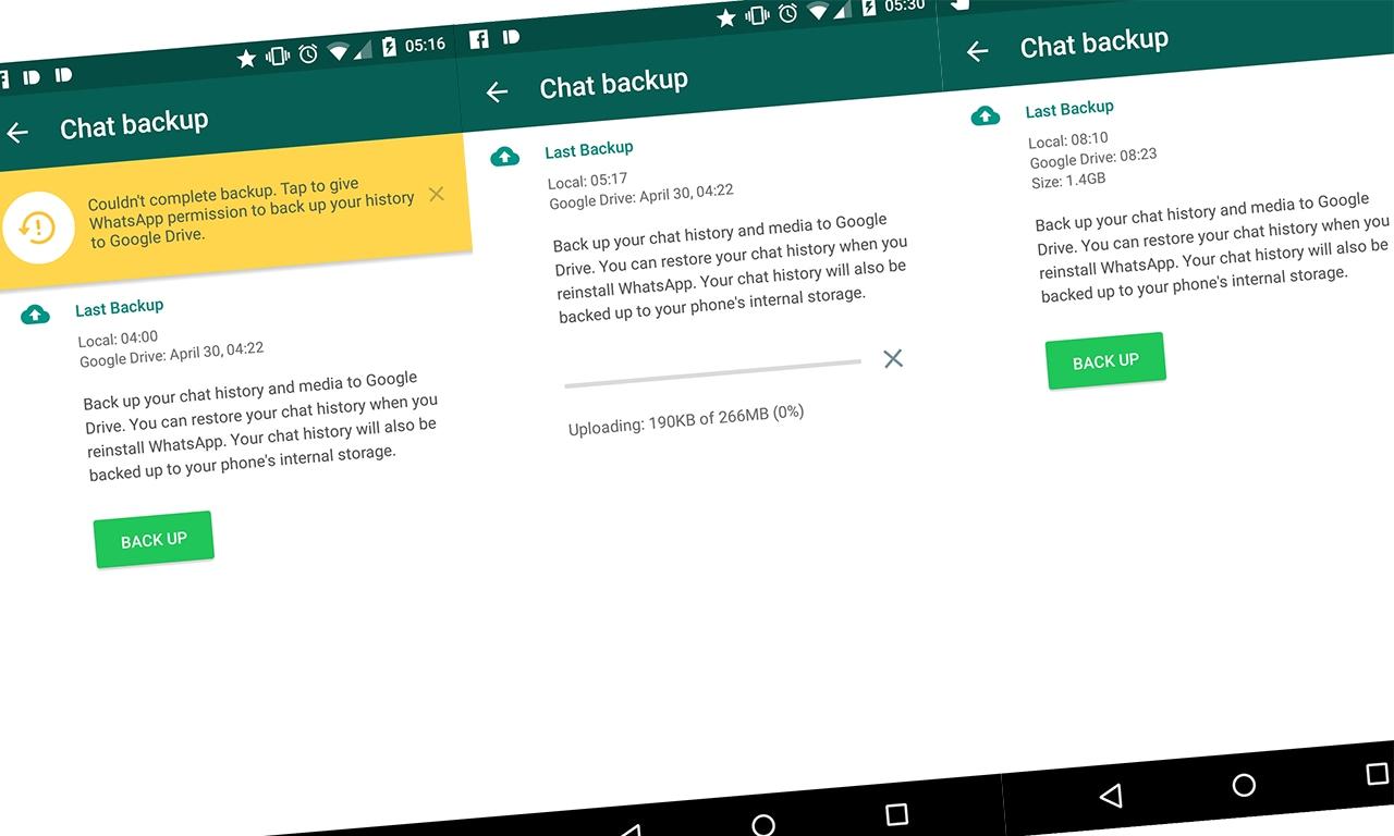 Il backup su Google Drive è tornato su WhatsApp. Più o meno. (foto)