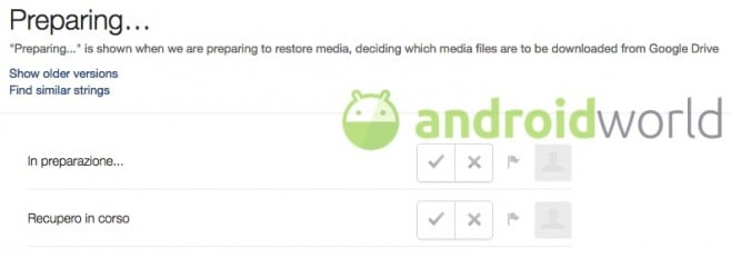 WhatsApp restore Google Drive